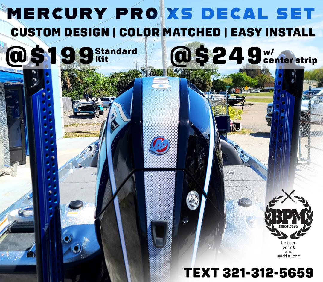 Mercury Motor Decals